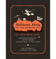 Halloween party invitation template vector