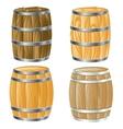 Wooden barrel of vector