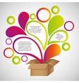 Color drops out of cardboard boxes vector