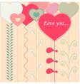 Card with decorative hearts vector