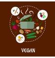 Vegan flat infographic design vector