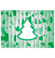 Abstract background christmas tree shape vector