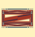 Ornament frame vector
