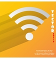 Wi-fi flat modern web button with long shadow and vector