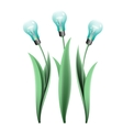 Lamp bulb tulips vector