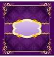 Elegant frame with ribbons on seamless ornament vector
