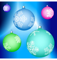 Cristmas balls decoration vector