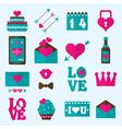 Valentine flat icon vector