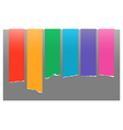 Rainbow color labels vector