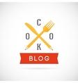 Cook blog concept icon or logo template vector