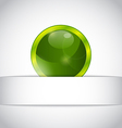 Abstract eco ball sticking out of the cut paper vector