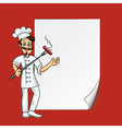 Cartoon cook blank paper vector