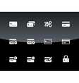 Credit card icons on black background vector