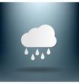 Weather icon cloud rain vector