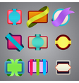 Set of different color ribbon labels vector