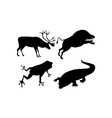 Wildlife silhouettes vector