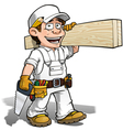 Handyman carpenter color it yourself vector
