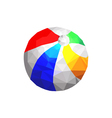 Origami beach ball vector