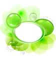Abstract bubbles frame vector