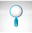 3d blue magnifying glass vector