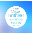 Triangle abstract winter background vector