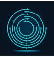 Abstract blue arrow icon vector