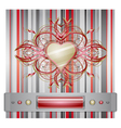 Red - gray background with heart vector