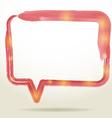 Blank empty white speech bubbles watercolor on vector