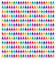 Icons people background vector