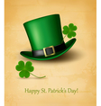 Saint patricks day card with clove leaf and green vector