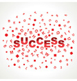 Success word with in alphabets vector