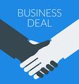 Flat design business deal concept handshak vector