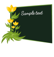 Flowers with card board frame vector