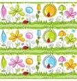 Cartoon floral seamless pattern vector