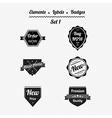 Set 1 elements labels and badges vector