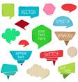 Set of colourful speech bubbles vector
