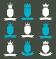 Collection of empire design elements heraldic vector