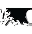 Hair style beauty background vector