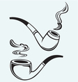 Set of tobacco pipes vector