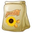 A pack of sunflower seeds vector