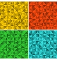 Set of seamless patterns with triangles vector