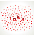 Idea word with in alphabets vector