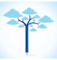 Blue cloud tree stock vector