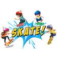 Skate logo vector