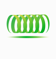 Abstract colorful circle logo template vector