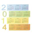Russian 2014 color calendar vector