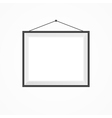 Blank frame on a white vector