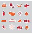 Halloween stickers set eps10 vector