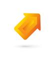 Business arrow logo icon design template vector