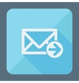 Mail icon envelope with arrow flat design vector